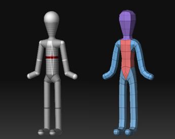 ZBrush-ZSphere 基本的な人型の作成