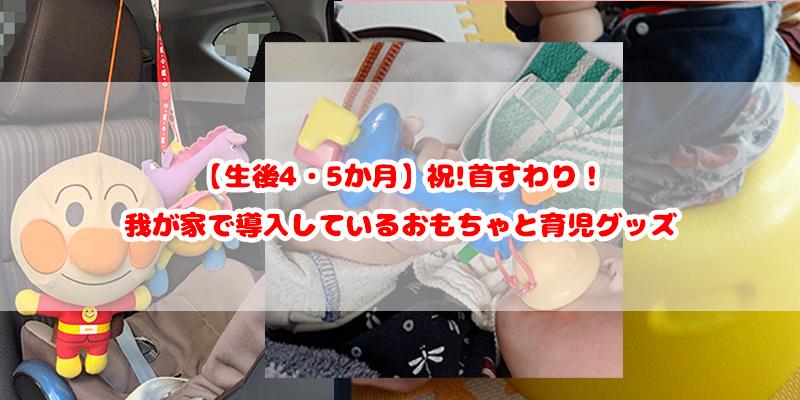 【生後4・5か月】祝!首すわり!導入しているおもちゃと育児グッズ