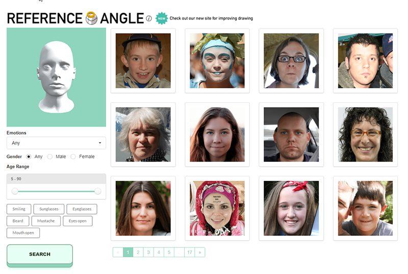 人の顔のリファレンス探しにおすすめ!「Reference Angle」
