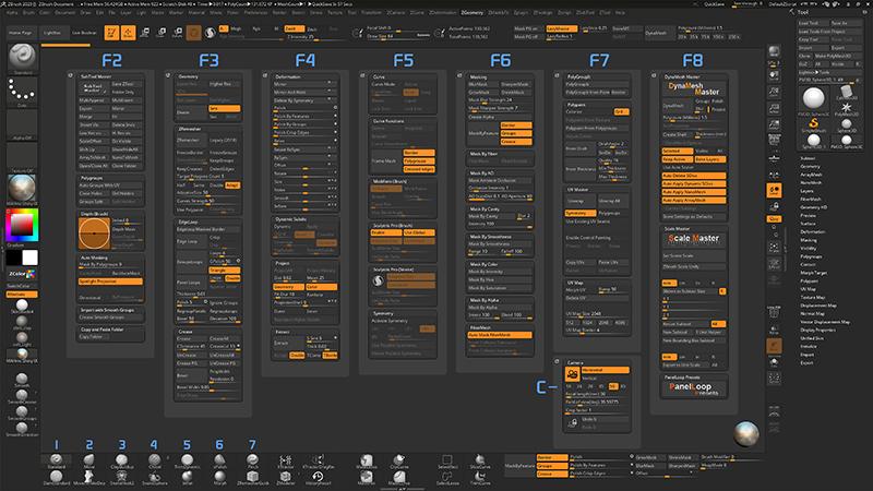 ZBrush-ZBrush2020用カスタムUI(作:Vadim Sadykov)を入れてみました