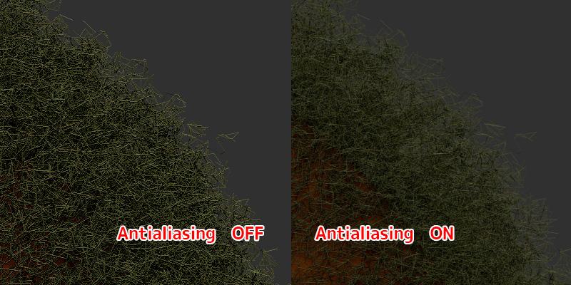ZBrush-リアルタイムでモデルにAntialiasing(アンチエイリアシング)の適用をする方法