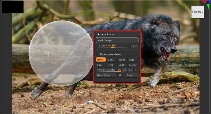 ZBrush-リファレンス画像を配置!ImagePlane(イメージプレーン)の使い方