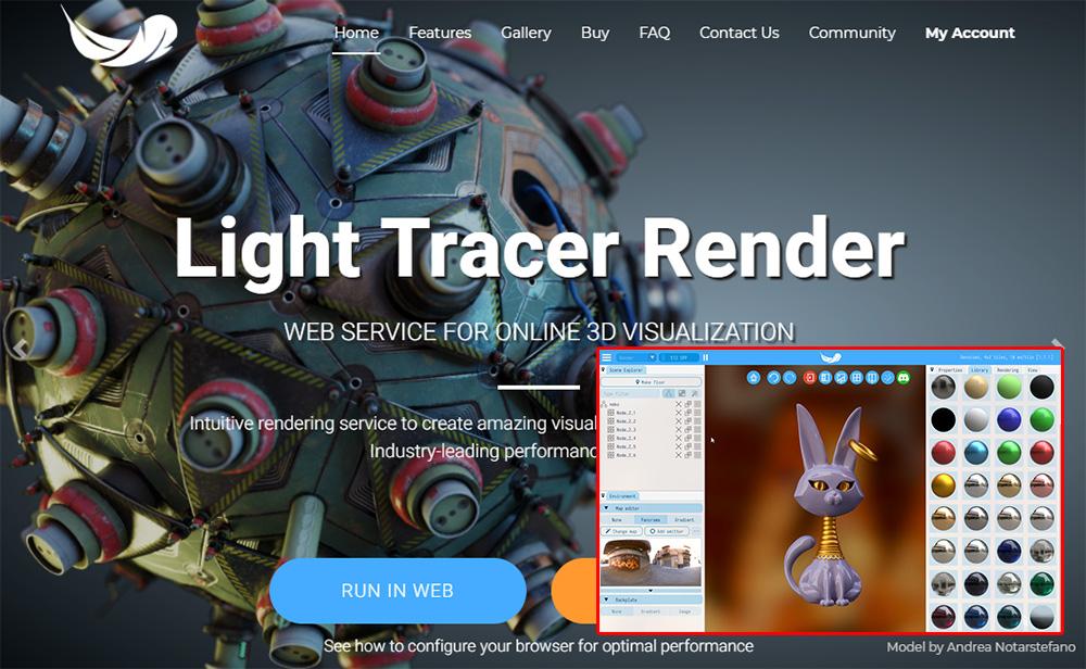 【レビュー】ブラウザでもフォトリアルなレンダリング!「Light Tracer Render」