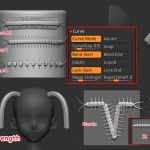ZBrush-【分離】Curve/Curve Functions/Curve Modifiersの各設定は3記事に分けました