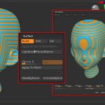 ZBrush-SurfaceとNoiseMakerプレビューウィンドウの主な設定