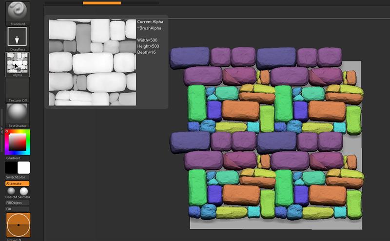 ZBrush-ArrayMeshを使ってタイリング可能なアルファ(テクスチャ)を作成する方法【チュートリアル】