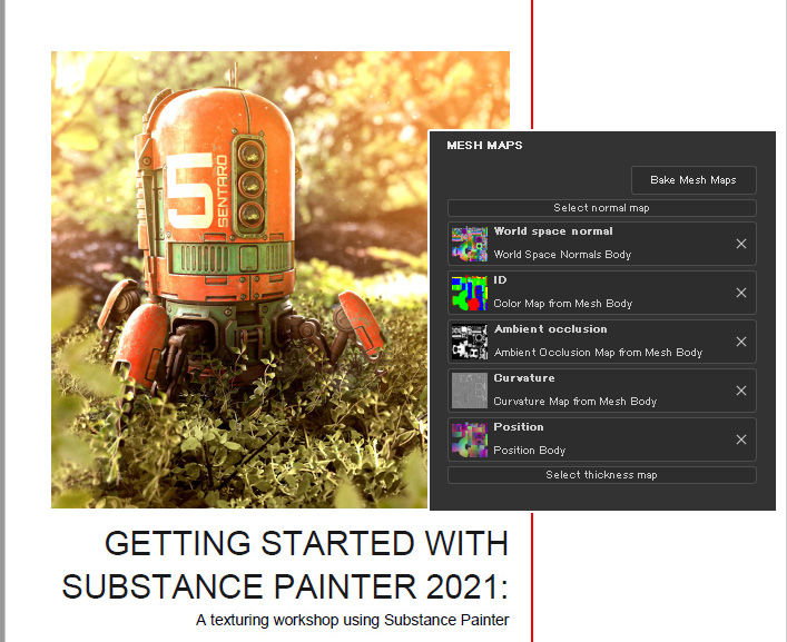GettingStarted SubstancePainter2021メモ(2)-プロジェクトの設定とUIとベイク方法。