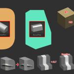 ZBrush-ベベルブラシ後のトポロジーの歪みをZRemesherを使って整える案