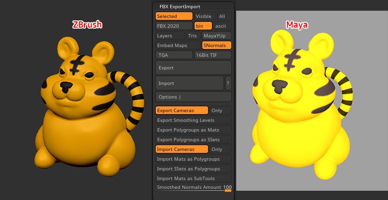 ZBrush-FBX入出力プラグイン!FBX ExportImportの使い方と各設定
